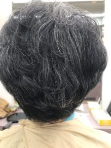 60代以上の女性のパーマヘア