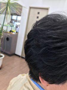 60代女性にパーマをかけた髪型