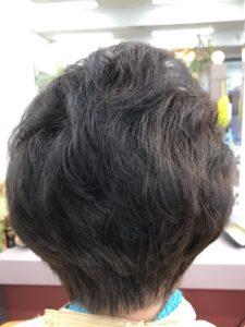 60代女性の髪型(ボリュームを出すためにパーマ)