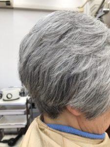60代以上の女性のかりあげた髪型