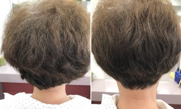 くせ毛のショートカットbefore&after